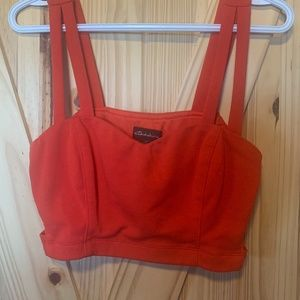 Womens Seductions Red Crop Top Size L
